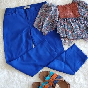 Gap Slim Cropped Stretch Royal Blue Pants